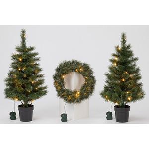 Künstlicher Weihnachtsbaum Set mit Kranz