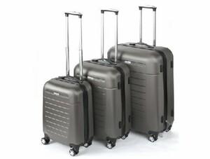 TrendLine Koffer-Trolley anthrazit 3er-Set ,  Größe in 50, 60, 70 cm