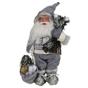 Weihnachtsmann mit Reisig-Bündel 30cm
