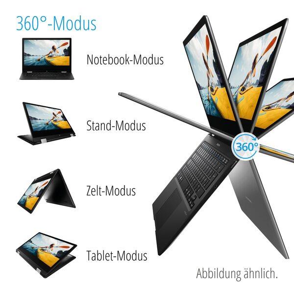 """MEDION AKOYA® E3222, Intel® Pentium® Silver N5000, Windows 10 Home im S Modus, 33,7 cm (13,3"""") FHD Touch-Display, 64 GB Flash, 4 GB RAM, 360° Modus, Convertible"""