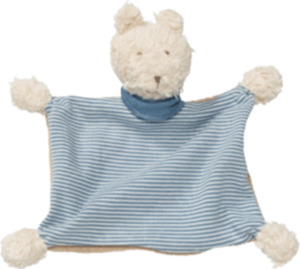 ALANA Baby Schmusetuch, in Bio-Baumwolle, Bär, für Mädchen und Jungen