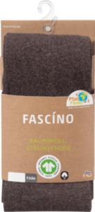 FASCÍNO Strumpfhose, mit Bio-Baumwolle, braun, Gr. 50/52