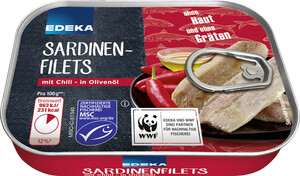 EDEKA Sardinen in Olivenöl mit Chili 100 g