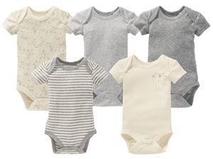 LUPILU® PURE COLLECTION Baby Body, reine Bio-Baumwolle, weiche Feinripp-Qualität, 5 Stück