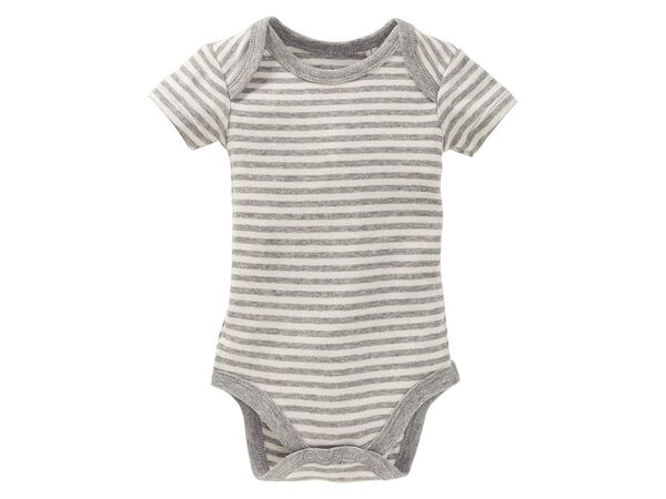 Lupilu Pure Collection Baby Body Mädchen Kurzarm Bio-Baumwolle