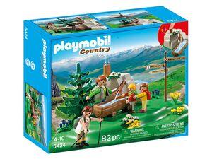 Playmobil Wanderer bei der Gebirgsquelle