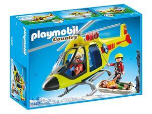 Playmobil Helikopter der Bergrettung