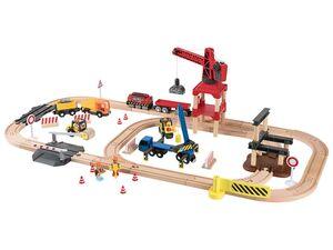 PLAYTIVE® JUNIOR Holzeisenbahn Baustelle