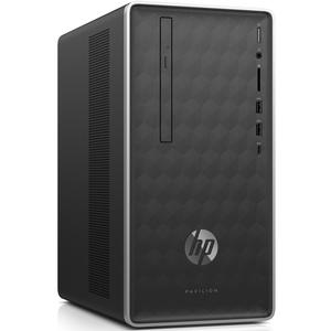 HP Pavilion Desktop 590-p0537ng AMD Ryzen5-2600, 8GB RAM, 1TB HDD, 256GB SSD, RX 580, DOS