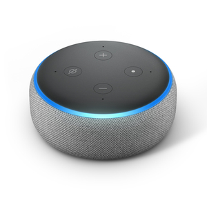 Amazon Echo Dot 3. Generation Smart-Speaker mit Alexa, Hellgrau Stoff