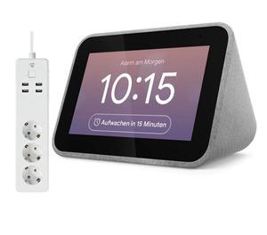Lenovo Smart Clock mit Google Assistant + Nedis WLAN Smart Steckdosenleiste