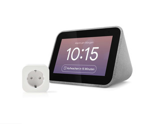Lenovo Smart Clock mit Google Assistant + Nedis WLAN Smart Stecker