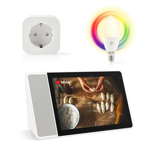 "Lenovo Smart Display mit Google Assistant 10,1"", Full-HD inkl. WLAN Smart Stecker & Smart LED-Lampe E14"