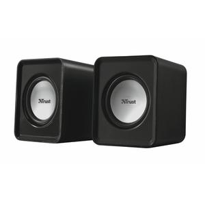 Trust Leto Stereo Lautsprecher für PC & Notebook, Sound via Klinke, Power via USB, schwarz