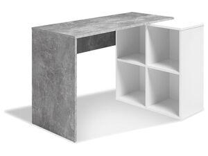 LIVARNO LIVING® Schreibtisch mit Schrankelement Beton/Weiß