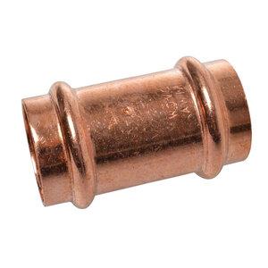 Kirchhoff              Verbindungsstück, Pressfitting für Kupfer, 15 mm, V-Kontur, 10 St.           