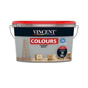 """Vincent              Wandfarbe Colours """"shadow"""" matt, 5 L"""