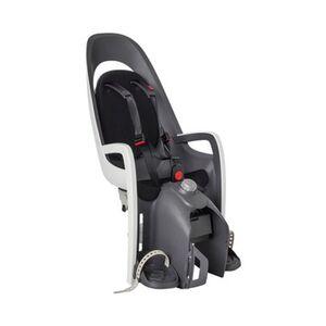 Kinderfahrradsitz Caress mit Gepäckträger Adapter grau/weiß/schwarz