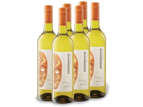 6 x 0,75-l-Flasche Weinpaket VREDEBOSCH Sauvignon Blanc Südafrika trocken, Weißwein