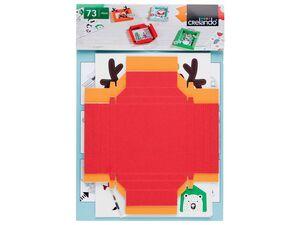 CRELANDO® Kinder Weihnachtsbastel Set
