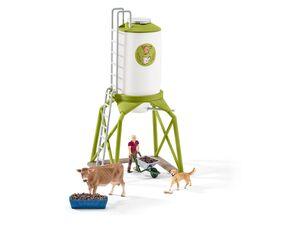 Schleich 41429 Futtersilo mit Tieren