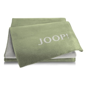 JOOP! Uni-Wohndecke DOUBLEFACE 150 x 200 cm in Grün/Grau