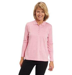 Adagio Damen Langarm-Poloshirt,rosé, 42, rosé, 42