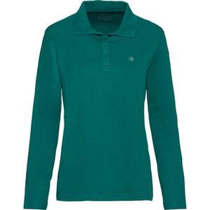 Adagio Damen Langarm-Poloshirt, smaragd, 44, 44