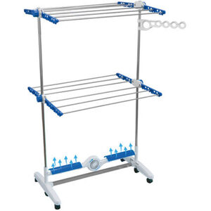 MediaShop Elektrischer Wäschetrockner Nubreeze, weiß/blau