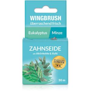 Wingbrush Zahnseide mit Aktivkohle, 30m, Eukalyptus/Minze