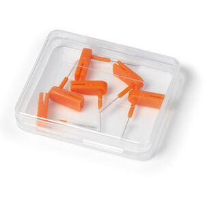 Wingbrush Ersatz-Aufsätze, 6er Set, orange, M/L
