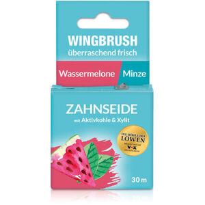 Wingbrush Zahnseide mit Aktivkohle, 30m, Wassermelone/Minze