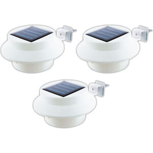 Easymaxx Solar-Dachrinnen-Leuchten, 3er Set, Kunststoff