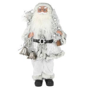 """Galeria Selection Weihnachtsfigur """"Weihnachtsmann"""", 38 cm, silber-weiß"""