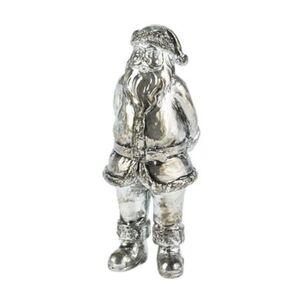 Pureday Deko-Vase 'Weihnachtsmann', Silberfarben, silberfarben