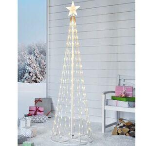 Pureday LED-Lichterbaum 'Schneefall', Weiß, Metall, Kunststoff, weiß