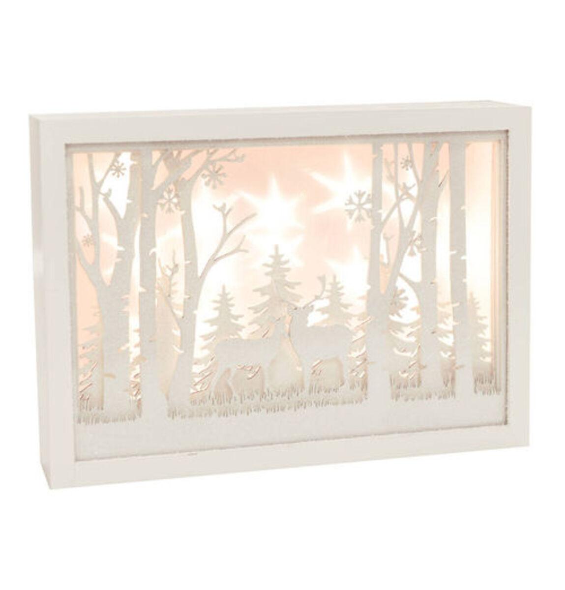 Bild 2 von Galeria Selection Deko-Rahmen, LEDs, Schneelandschaft, 30cm, weiß