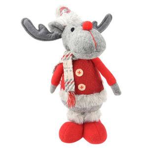 """Galeria Selection Weihnachtsfigur """"Rentier"""", 30 cm, stehend, rot, grau, Mantel"""