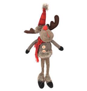 """Galeria Selection Weihnachtsfigur """"Rentier"""", 45 cm, sitzend, braun, rot"""