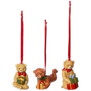 Villeroy & Boch Ornamente Teddy, Set 3tlg. Nostalgic Ornaments, mehrfarbig