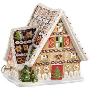 Villeroy & Boch Lebkuchenhaus mit Spieluhr Christmas Toys, braun