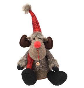 """Galeria Selection Weihnachtsfigur """"Rentier"""", 22 cm, braun, Mütze, sitzend"""