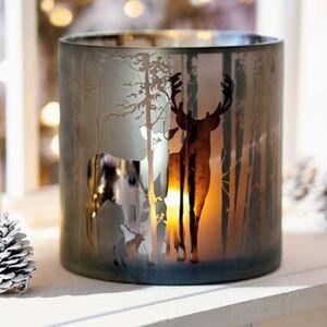 Pureday Windlicht 'Hirschfamilie', Braun, Glas, braun