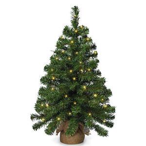 Weihnachtsbaum im Jutesack, mit 20 LED's, 50 cm