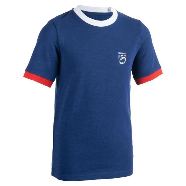 Rugby-Fanshirt Frankreich 2019 Kinder blau