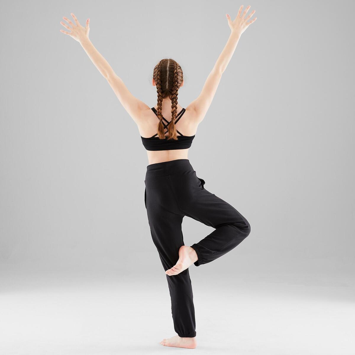 Bild 4 von Verstellbare Hose Modern Dance Mädchen schwarz