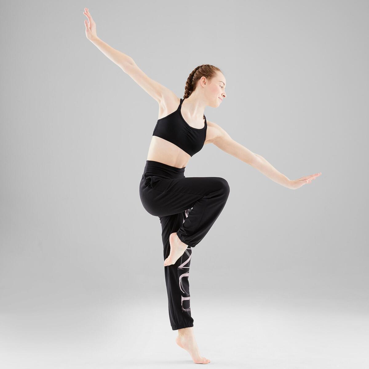 Bild 5 von Verstellbare Hose Modern Dance Mädchen schwarz