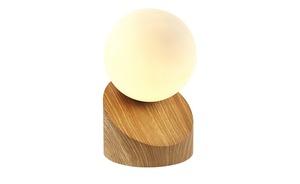 Tischleuchte, Holzoptik mit Touchschalter