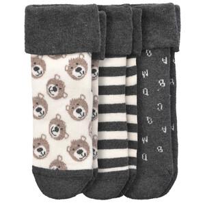 3 Paar Baby Socken mit Umschlagbund