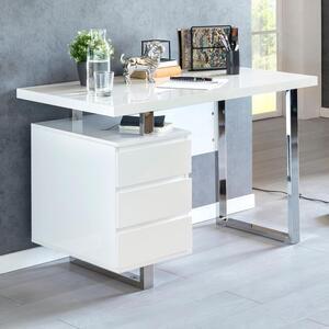WOHNLING Design Schreibtisch PATTY 115x60x76 cm Weiß